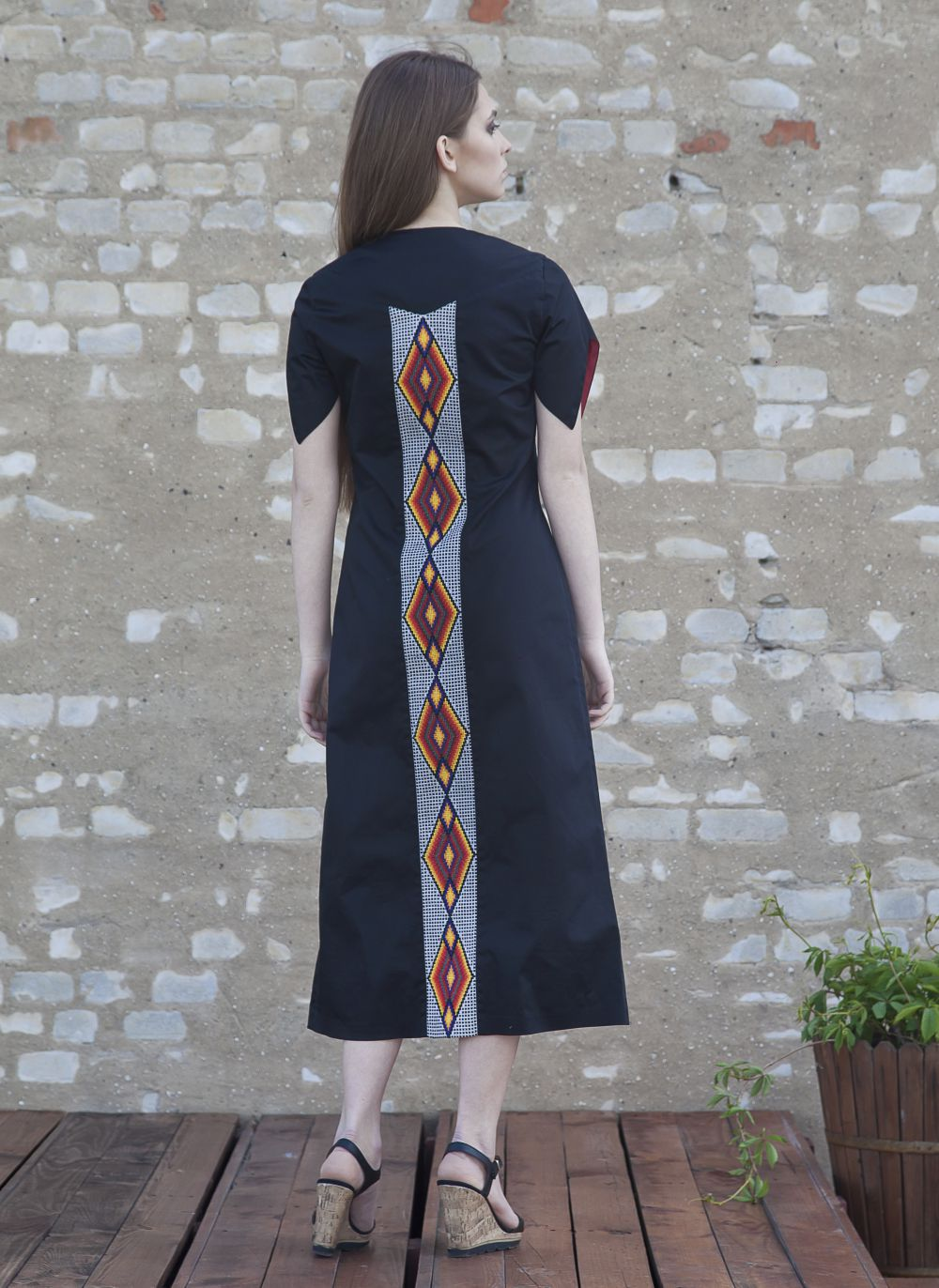 Dress with embroidered details