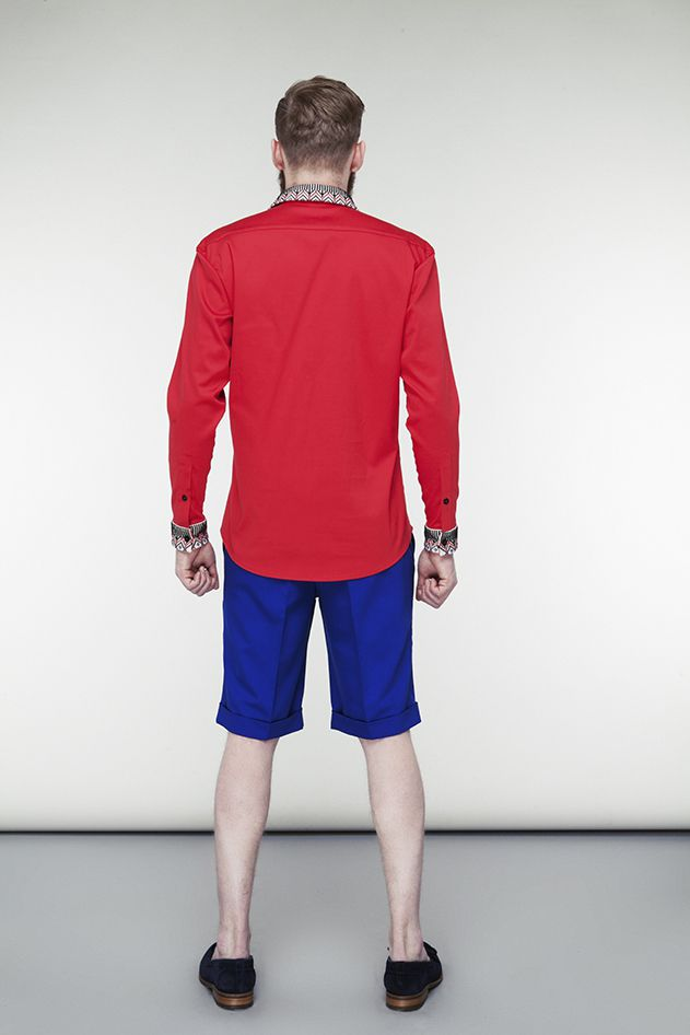 Red shirt with Kozak embroidery